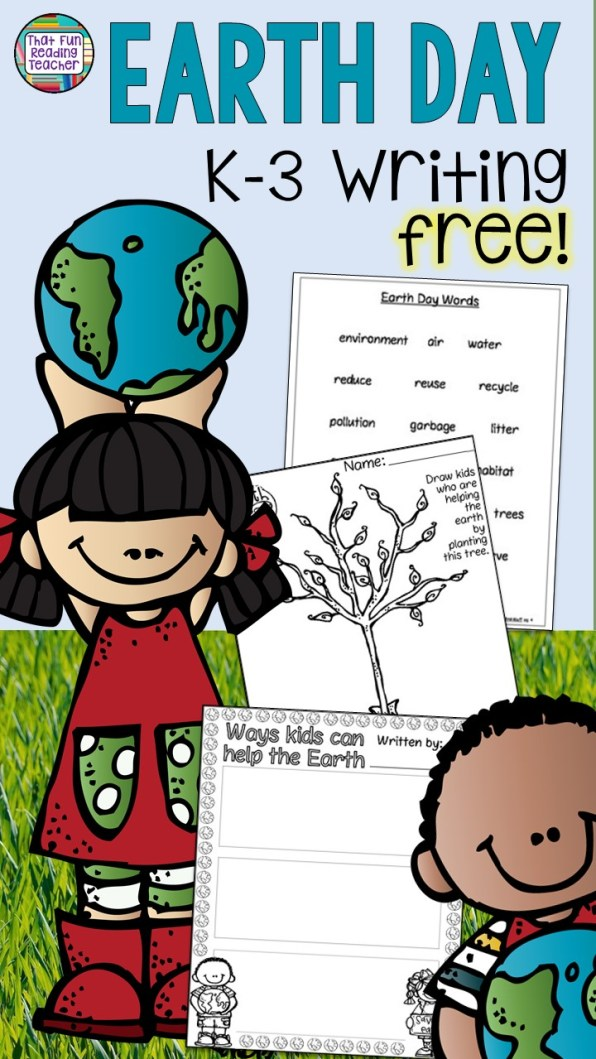 Earth Day Writing Freebie for K-3 students! 3-part graphic organizer - That Fun Reading Teacher