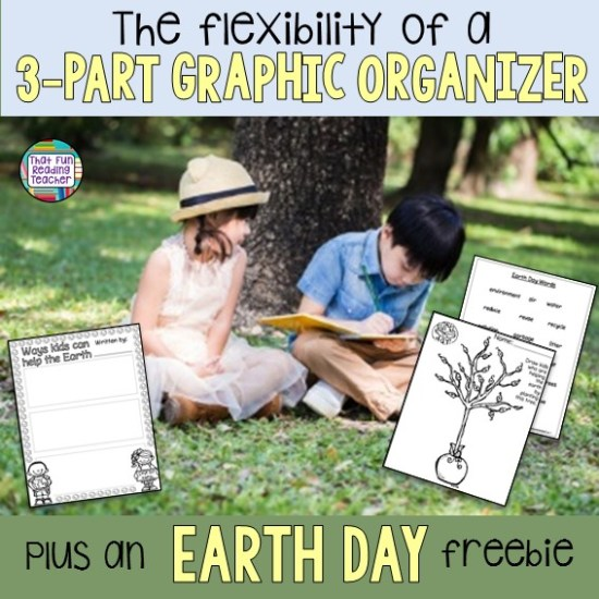 The flexibility of a 3 part graphic organizer - plus an earth day freebie!   That Fun Reading Teacher