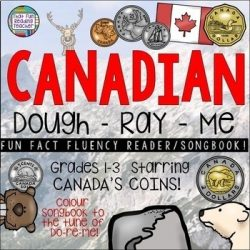 If you're teaching about Canadian coins and can sing Do-Re-Me, your students will love this! It's easy to remember Canadian coin names and values when you've learned them in song! Interactive, colour picture book with student-sized line version! $ #canadiancoins #tpt #canada #education #math #teacherspayteachers