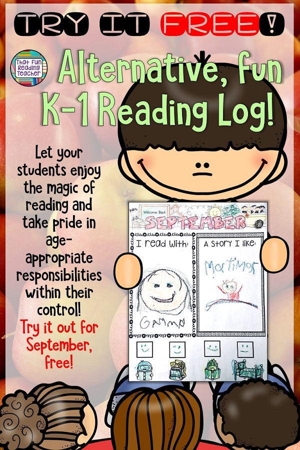 Looking for an alternative Reading Log for your Kindergarten, first grade students? Try September free on this K-1 Reading Log Rejigged, with the focus on sharing magic of reading, taking pride in age-appropriate responsibilities! #September #bts #kindergarten #free #tpt #readinglogalternative