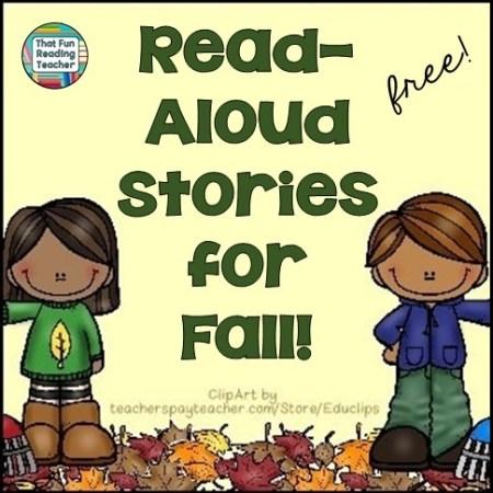 Free playlist of fall stories read-aloud, FREE on ThatFunReadingTeacher.com