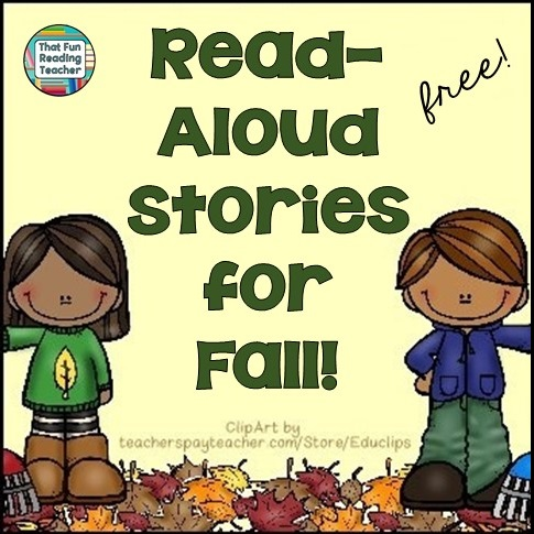Free playlist of fall stories read-aloud, FREE on ThatFunReadingTeacher.com