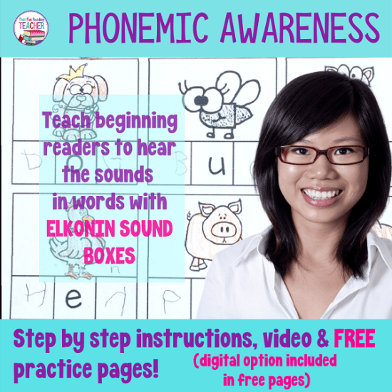 Phonemic awareness - hearing sounds in words with Elkonin sound boxes