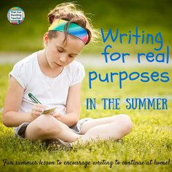 End of Year Writing Lesson: Writing for a purpose – Summer Lists!