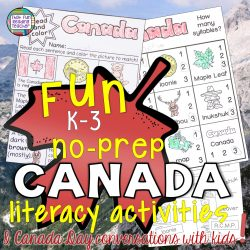 Fun primary, no-prep Canada literacy activities! | That Fun Reading Teacher.com