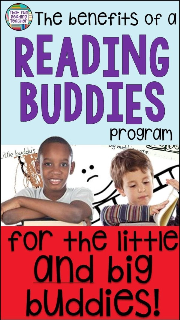 The benefits of a Reading Buddies program for the little and big buddies! | That Fun Reading Teacher