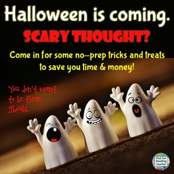 Fun Halloween, no-prep early literacy activities!