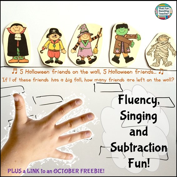 Halloween Fluency, Singing & Subtraction Fun!
