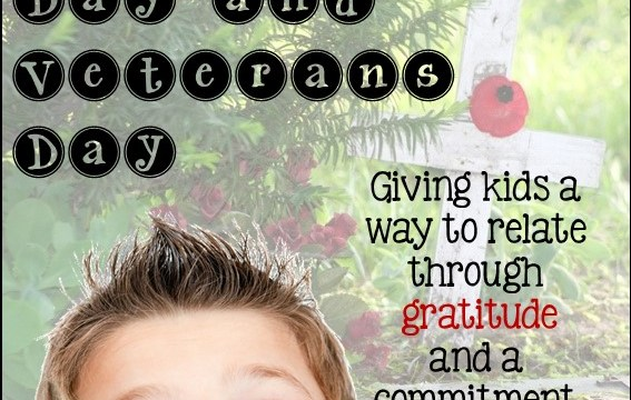 Remembrance Day and Veterans Day - Giving kids a way to relate through gratitude and a committment to peace.