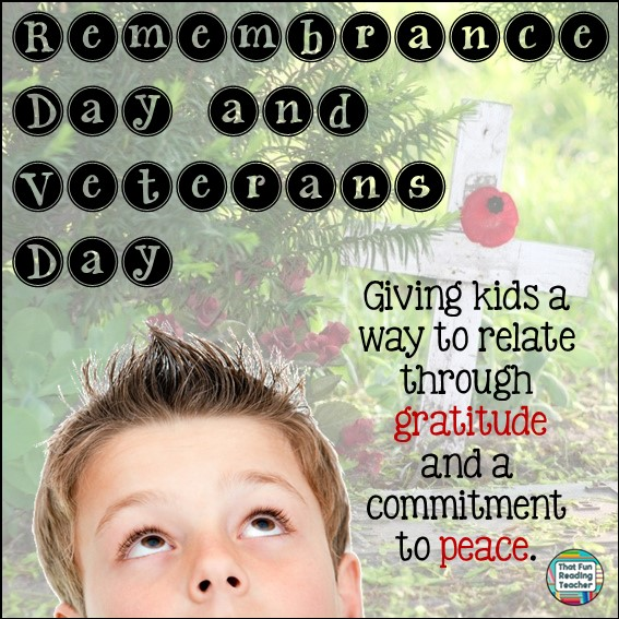 Remembrance Day and Veterans Day - Giving kids a way to relate through gratitude and a committment to peace