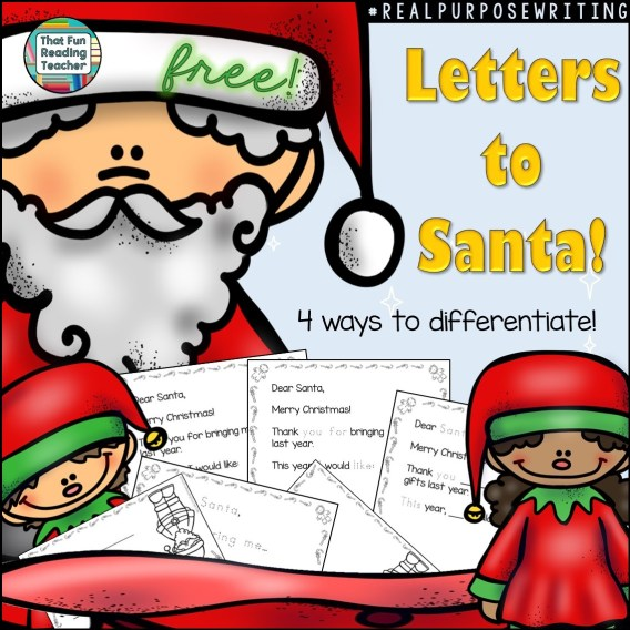FREE! Letter to Santa - Differentiate by simply printing the versions you need!