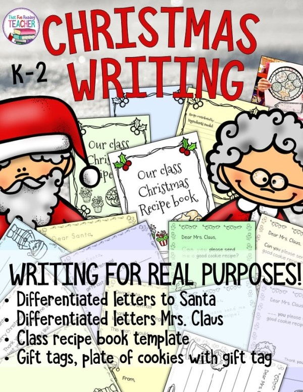 Writing a letter to Santa is perhaps the best gift given to teachers of beginning or reluctant writers. The Christmas wish list is a highly motivating 'real purpose' reason to write! Here's are some fun, differentiated printables to get your earliest, littlest students working on Christmas letters with with all the independence they possess! $ #Christmas #writing #fun #education #kids