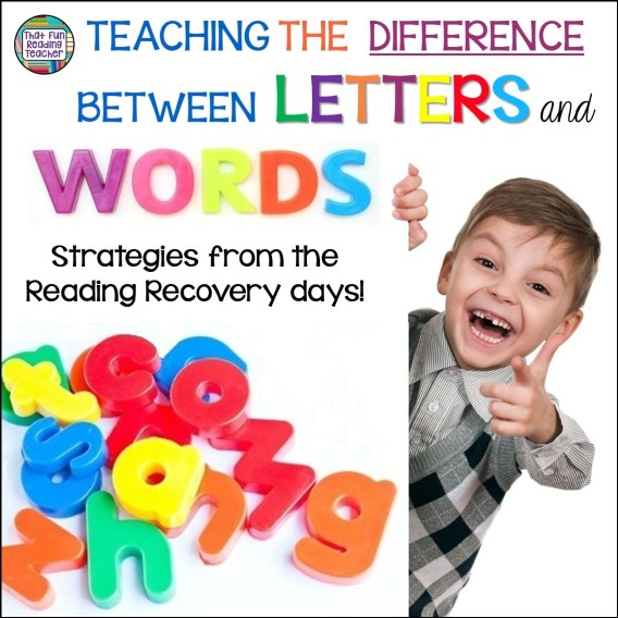 Guided reading: Teaching the difference between letters and words | ThatFunReadingTeacher.com