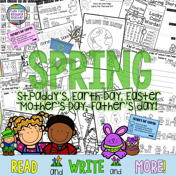 Spring Writing Activities: Read and Write and More! $
