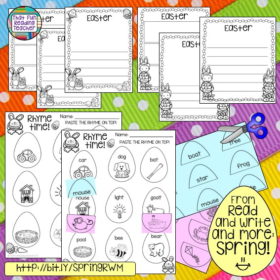 Easter writing activities from Read and Write and More Spring $