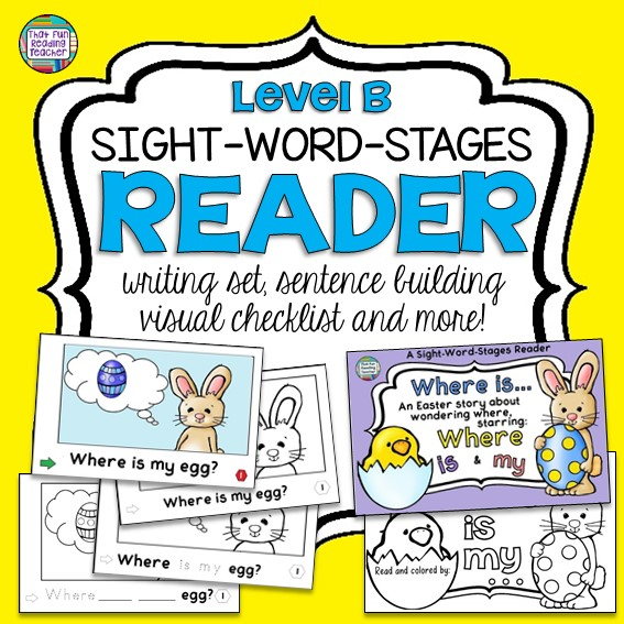 Guided Reading Easter Sight Word Reader - Where is my... Lv B - That Fun Reading Teacher $