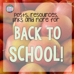 Back to School posts, resources, links and more! | That Fun Reading Teacher.com