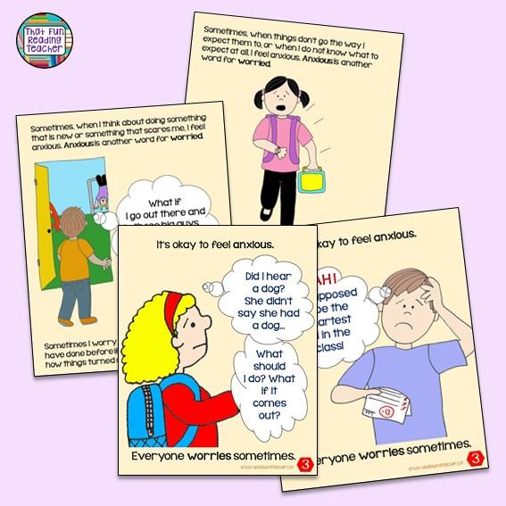 Feelings stories for kids: When I feel anxious 2 pack $