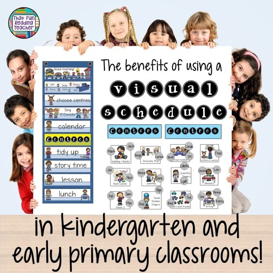 The benefits of using a visual shedule in kindergarten and early primary classrooms!