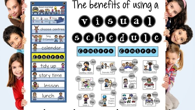 The benefits of a using a visual schedule in kindergarten and early primary classrooms