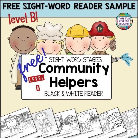 Community Helpers Level B Sight Word Reader Free