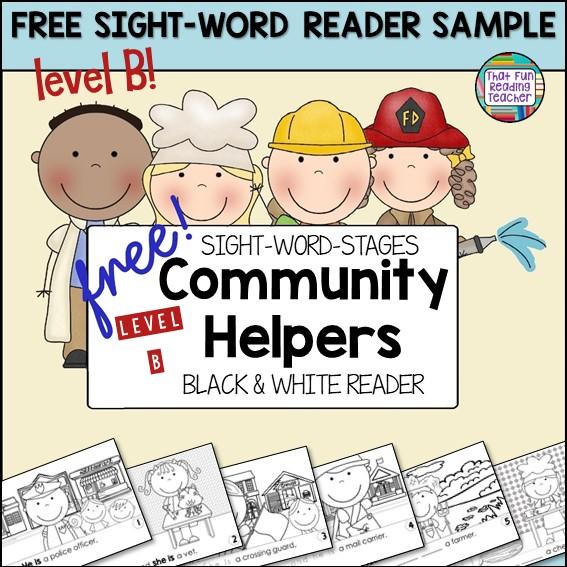 Community Helpers Level B Sight Word Reader Free