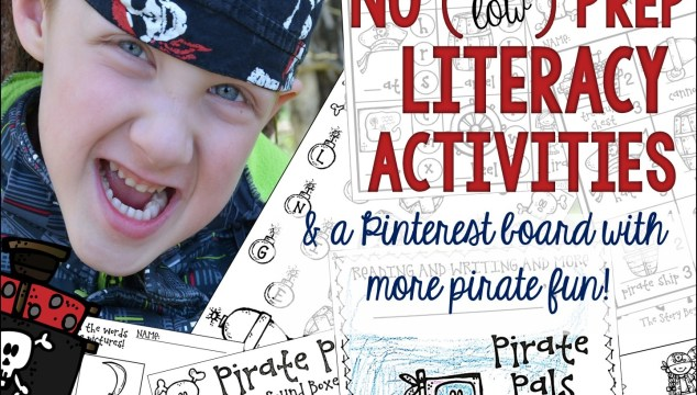 Fun, pirate-themed no (and low) prep literacy printables!