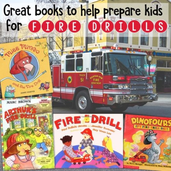 Great books to help prepare kids for fire drills #firedrills #school #elementary #stories #kidlit