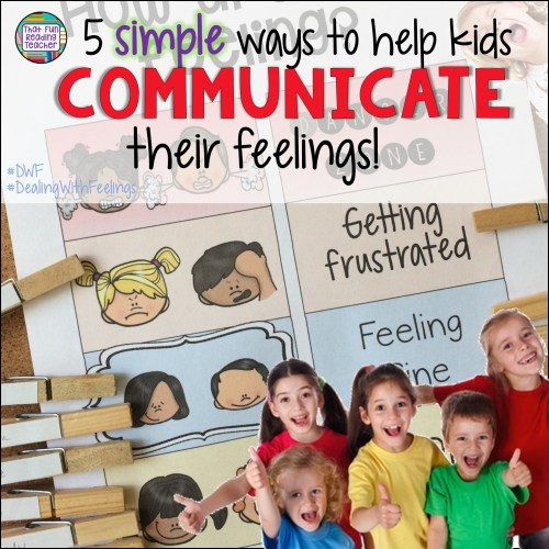 Putting emotions into words can be a struggle for many of us, even if we are proficient in communicating using language! Here are 5 simple, ways kids with a variety of language skills can communicate their feelings! #feelings #emotions #kids #socialskills #specialeducation #regulateemotions