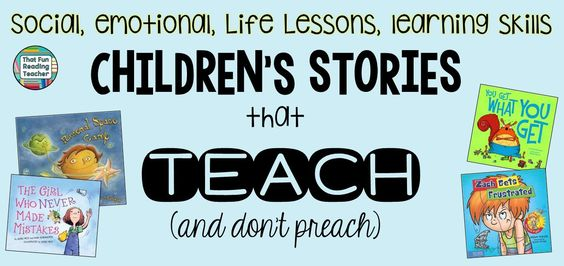 Social, emotional, life lessons, learning skills children's stories that teach!