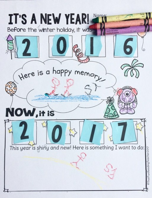 Happy New Year freebie #education #happynewyear #freebie #earlyyears #earlyliteracy #kindergarten #iteachprimary