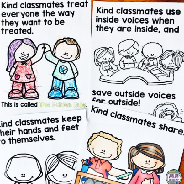 What kind classmates do picture book / bulletin board set $ #kindness #school #expectations #teaching #kindergarten #primary #iteachtoo
