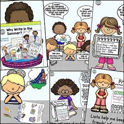 Why Write in the Summer? is the storybook lesson included in Summer Writing: Fun Summer Lists.