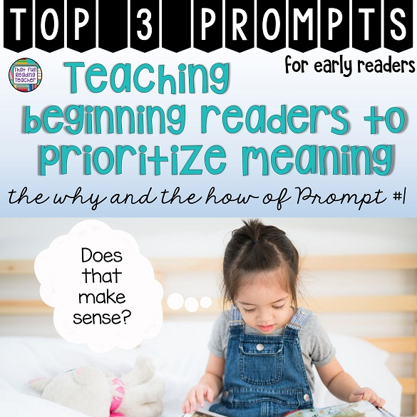 Teaching beginning readers? Teach them to read the pictures first! #earlylearning #kindergarten #top3prompts #readformeaning #beginningreaders #thatfunreadingteacher #education