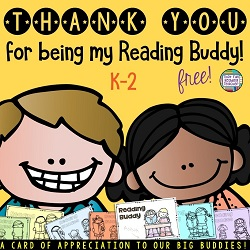 Thank you for being my Reading Buddy free
