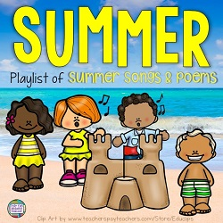 Free playlist of summer songs and poems for kids! #summer #education #kindergarten #earlylearning