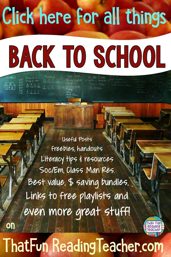 Back to School tips, resources, free resources, playlists and more for kindergarten and primary teachers #bts #earlylearning #earlyliteracy #feelings #emotions #teachersoftpt
