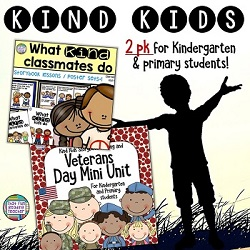 Teach primary and kindergarten students do what kind kids do! | Kindness resource with stories, visuals and song $ #BTS #BTSReadyWithTpT #teaching #kindness #VeteransDay