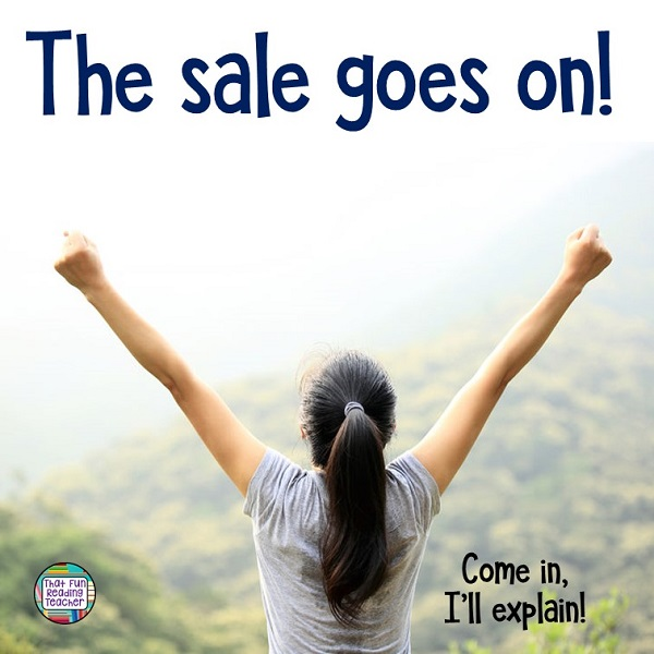 Enjoying the TpT #BTS sale? Me too! In fact, I couldn't let go...so the sale goes on!