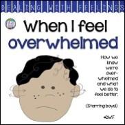 When I Feel Overwhelmed A Dealing With Feelings Story starring boys! #feelings #emotions #story #DWF #tpt #socialemotional #teaching
