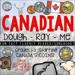 It's easy for kids to learn and remember the names and values of Canadian Coins with this fun fluency reader, sung to the tune of Do-Re-Me! It's a great mneumonic and they enjoy the hands-on activities they can use with peers! $ #education #teaching #canada #canadianteacher #canadiancoins #grade1 #grade2 #iteachtoo