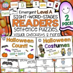 These Emergent Sight-Word Readers are a 'just right' treat with my guided reading groups every Halloween! Click on through to see why! $ #teaching #reading #differentiate #earlylearning #tpt