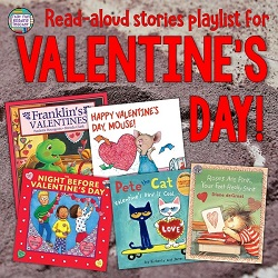 Valentine's Day Stories Read Aloud - Free Playlist for K-2! #earlylearning #stories #valentinesday #kindergarten