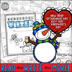 Fun Winter Literacy Skill Worksheets K-2