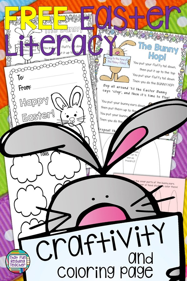 My students love dancing with this Easter Song and Movement Craftivity based on the Hokey-Pokey! Free download! #earlylearning #tpt #easter #kindergarten #teaching