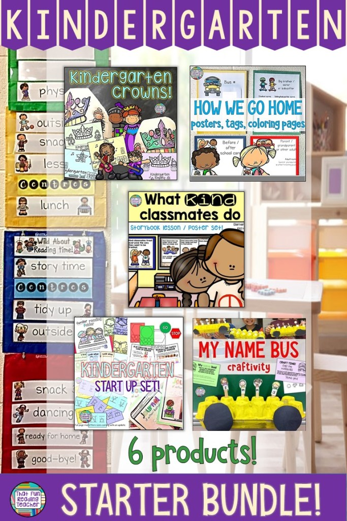 Preparing to teach kindergarten? Click here for fun, practical and easy to use resources for the first days and weeks back to school! $ #kindergarten #bts #resources #fun #thatfunreadingteacher