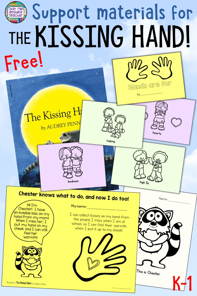 Do you read The Kissing Hand to your students on the first day of school? Click here to download these free support materials, including an easy way of communicating the magic to parents and caregivers! #kissinghand #bts #tpt #thatfunreadingteacher