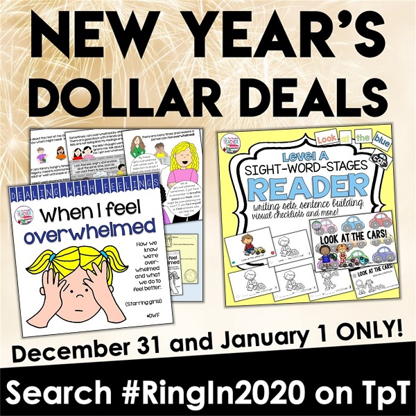 Happy New Year! New Year's Dollar Deals are back, and my teacher-author friends and I invite you to #RingIn2020 with us today and tomorrow with amazing resources marked down to onHappy New Year, my friends! New Year's Dollar Deals are back, and my teacher-author friends and I invite you to #RingIn2020 with us today and tomorrow with amazing resources marked down to one dollar!