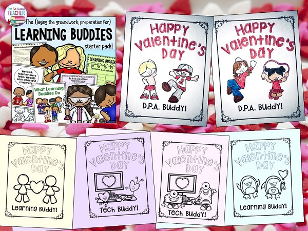 I have added Valentine cards to the Learning Buddies starter pack, too, as well as