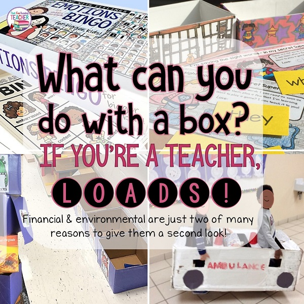Fun ways to use boxes in the classroom (and freebies!)